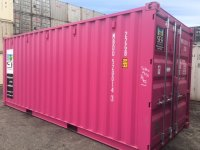 20' SHIPPING CONTAINER - MAGENTA